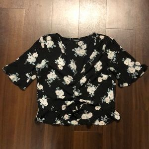 Express cropped top/blouse